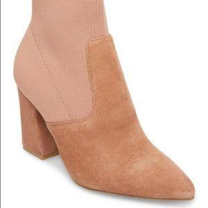 Steven Madden Sock Bootie Blush Pink